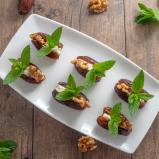 Feta Stuffed Dates with Walnut & Mint